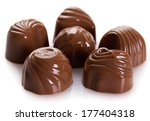 chocolate candys isolated on... | Shutterstock . vector #177404318