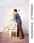young couple having a romantic... | Shutterstock . vector #177404660