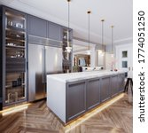 A Modern Kitchen Island Made O...