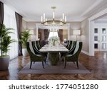 Luxurious Trendy Dining Room...