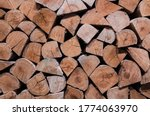 Stack Of Firewood Prepared For...
