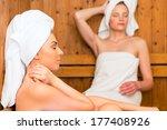 two women in wellness spa...   Shutterstock . vector #177408926
