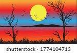 Sunset Landscape Scenery ...