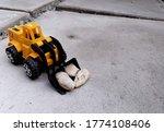 Bulldozer Plastic Toy Carrying...