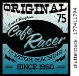 cafe racer   vintage motorcycle ... | Shutterstock .eps vector #177411794