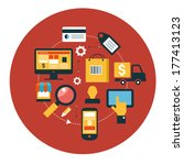 infographics background e... | Shutterstock .eps vector #177413123
