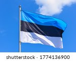 The flag of estonia is a...