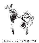 illustration of a dancer couple ... | Shutterstock .eps vector #1774138763