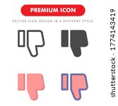dislike icon pack isolated on...