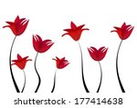 meadow of red flowers for... | Shutterstock . vector #177414638