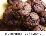 chocolate muffins with crispy...