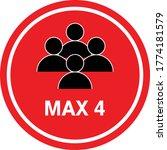max 4 people sign vector  keep...   Shutterstock .eps vector #1774181579