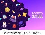 back to school. space  rocket ... | Shutterstock .eps vector #1774216940