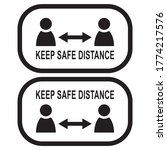 keep safe distance sign  social ... | Shutterstock .eps vector #1774217576