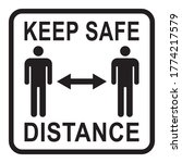 keep safe distance sign  social ... | Shutterstock .eps vector #1774217579