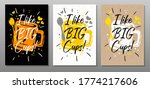 like big cups quote food poster.... | Shutterstock .eps vector #1774217606