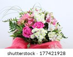bouquet of flowers decorated on ... | Shutterstock . vector #177421928