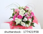 bouquet of flowers decorated on ... | Shutterstock . vector #177421958
