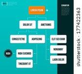 organization chart template on... | Shutterstock .eps vector #177422363