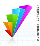 business graph vector growth... | Shutterstock .eps vector #177425834