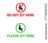 do not sit here signage for...   Shutterstock .eps vector #1774306763