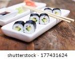 Avocado Sushi Set With...