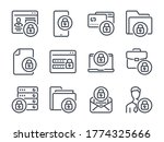 cybersecurity line icons. data... | Shutterstock .eps vector #1774325666