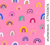cute seamless pattern with cute ...   Shutterstock .eps vector #1774333676