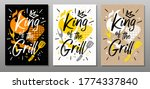 King Grill  Quote Food Poster....