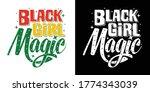 black girl magic printable... | Shutterstock .eps vector #1774343039