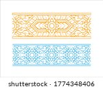 thai art siamese motif ancient...   Shutterstock .eps vector #1774348406