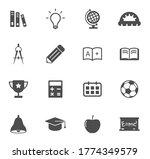 education vector icons isolated ...