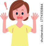 illustration of a surprised... | Shutterstock .eps vector #1774350866