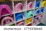 multi colored pots for a... | Shutterstock . vector #1774358660