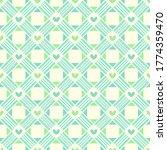 simple cute love lattice weave... | Shutterstock .eps vector #1774359470