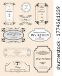 set of ornate vector frames and ... | Shutterstock .eps vector #1774361339