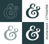custom decoration ampersand.... | Shutterstock .eps vector #177436988