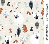 seamless childish pattern with... | Shutterstock .eps vector #1774389626