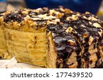 chocolate cake with peanut | Shutterstock . vector #177439520