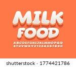 vector stylish logo milk food....   Shutterstock .eps vector #1774421786
