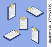checklist isometric   flat icon ... | Shutterstock .eps vector #1774429580