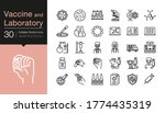 vaccine and laboratory icons....