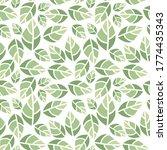 vector illustration leaf.... | Shutterstock .eps vector #1774435343
