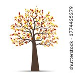 vector illustration of autumn... | Shutterstock .eps vector #1774435379