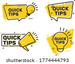 tags. quick tips  helpful...   Shutterstock .eps vector #1774444793
