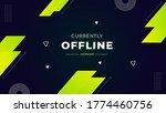 currently offline twitch banner ...   Shutterstock .eps vector #1774460756