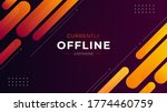 currently offline twitch banner ... | Shutterstock .eps vector #1774460759