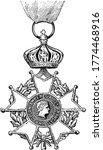 cross of legion of honor was... | Shutterstock .eps vector #1774468916