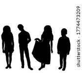 black silhouette of children... | Shutterstock .eps vector #1774473209