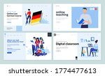 web page design templates of... | Shutterstock .eps vector #1774477613